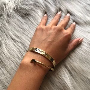 Jewelry - Gold stacking bracelets | believe | moon & stars